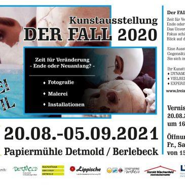 """FREISTIL  kun5t-team, Kunstausstellung :    """"DER FALL 2020"""", es geht weiter.                             Ab 17.09. in Halle / Westfalen…."""