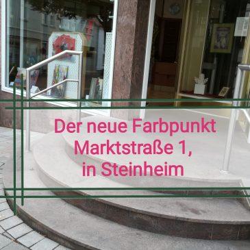 """Der """"Farbpunkt"""" in Steinheims Innenstadt"""