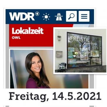 FREISTIL  kun5t-team, Besuch WDR Lokalzeit